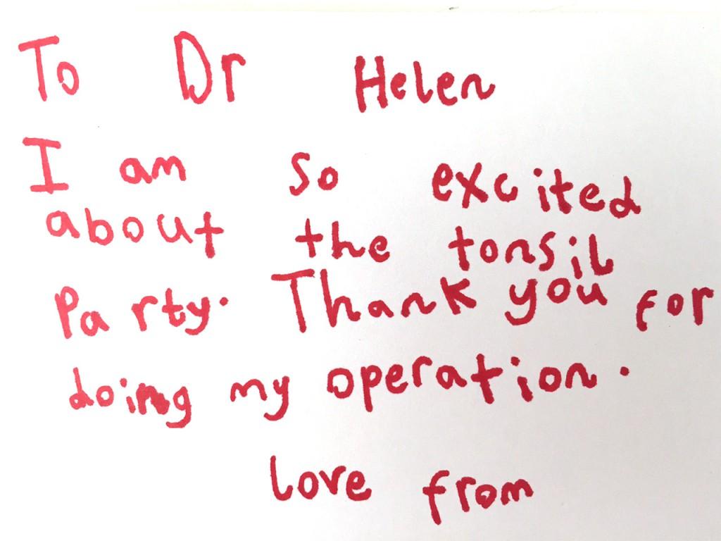 patient review - children's ent london